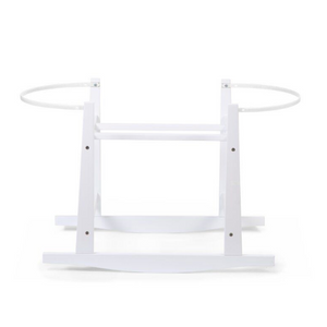 Childhome wooden rocking stand for moses basket - White