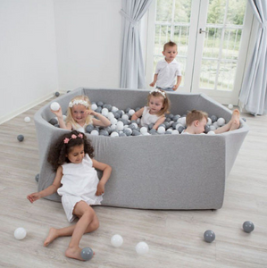 MISIOO Ball Pool grau - Quadrat 130x130cm