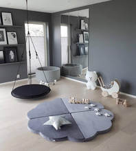 Load image into Gallery view, MISIOO foam play carpet gray - flower 160x5cm
