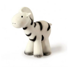Load image into Gallery view, Tikiri bath toy with bell - Zebra