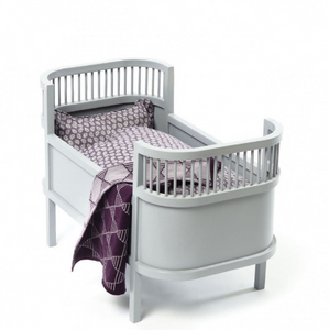 Smallstuff wooden doll bed - Gray