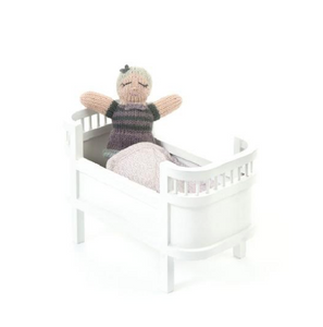 Smallstuff wooden doll bed miniature - White