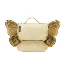 Load image in Gallery view, Caramel & Cie backpack with wings - Gold with glitter