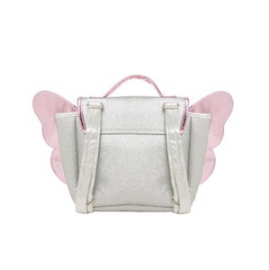 Caramel & Cie backpack with wings - Silver / pink