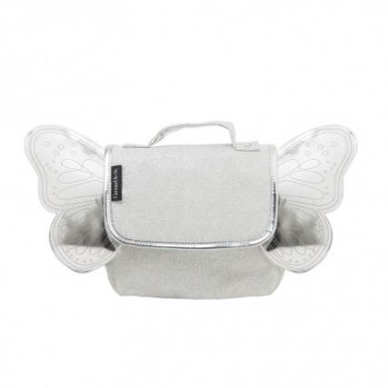 Caramel & Cie backpack with wings - Silver