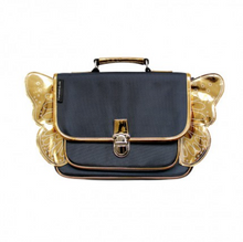 Loading Image in Gallery View, Caramel & Cie Backpack with Wings - Blue / Gold