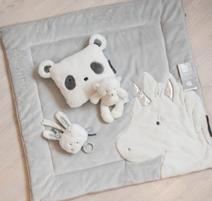 Doudou box rug unicorn - Gray