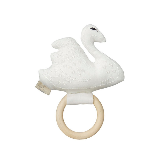 Cam Cam rattle swan - Off white