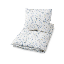 Load image in Gallery view, Cam Cam comforter set 140x200cm - Pressed leaves blue