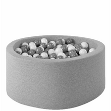Load image into Gallery view, MISIOO ball bath light gray - round 90x40 cm
