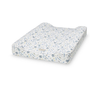 Cam Cam changing mat - Pressed leaves blue