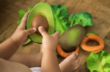Load Image in Gallery View, Oli & Carol Bite and Bath Toy - Avocado
