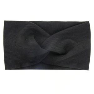 Hair band knotted - Black