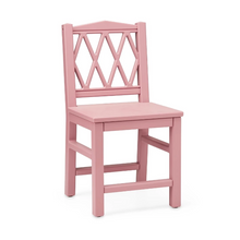 Load image in Gallery view, CamCam harlequin kids chair - Berry