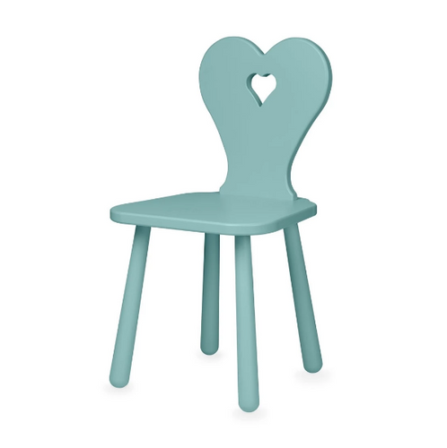 CamCam heart kids stoel - Canal green