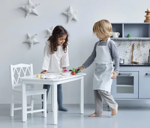 CamCam harlequin children's table - White