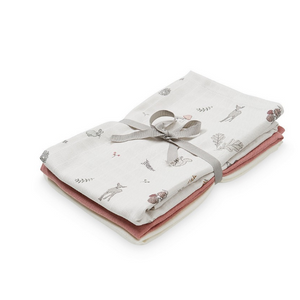 Cam Cam 3 hydrophilic cloths - Fawn, berry and cream white