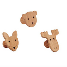 Load image in Gallery view, Kid's Concept 3 edvin wall hooks - Animals