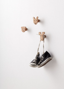 Kid's Concept 3 edvin wall hooks - Animals
