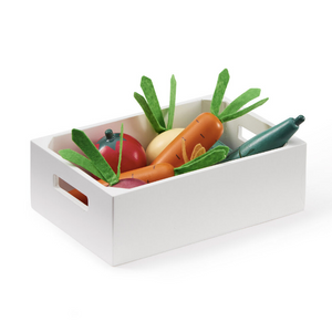 Kid's Concept bistro wooden box with vegetables