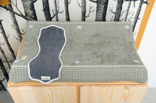 Load image into Gallery view, Koeka changing mat cover waffle Amsterdam - Steel gray