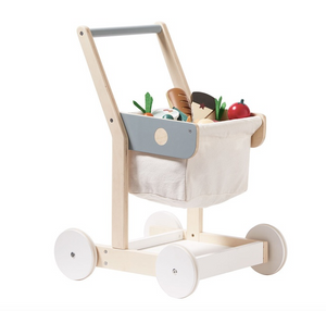 Kid's Concept wooden shopping cart