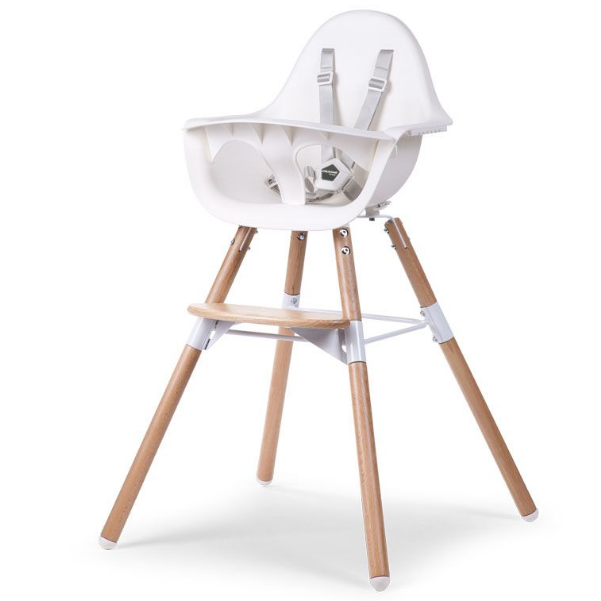 Childhome Evolu 2 stoel - naturel/wit