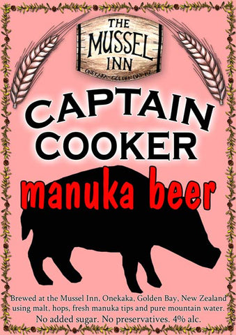 Captain Cooker Manuka Beer - The Mussel Inn