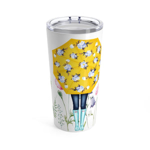 Spring Umbrella Girl Coffee Tumbler 20oz