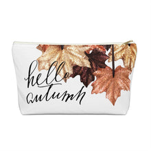 Load image into Gallery viewer, Autumn Glitter Leaves Accessory Pouch with T-bottom - Pencil Case - Planner Press Designs