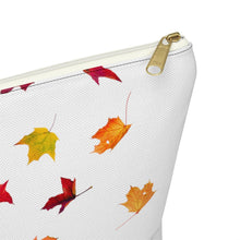 Load image into Gallery viewer, Autumn Fashion Girl Light Skin Red Hair Accessory Pouch with T-bottom - Pencil Case - Planner Press Designs
