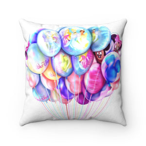 Pillow - Disney Balloons Faux Suede Square Pillow