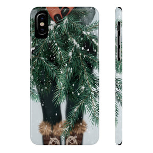 iPhone X Winter Branches Dark Skin Case Mate Slim Phone Cases
