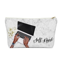 Load image into Gallery viewer, Self Made Girl Boss Dark Skin Accessory Pouch with T-bottom - Pencil Case