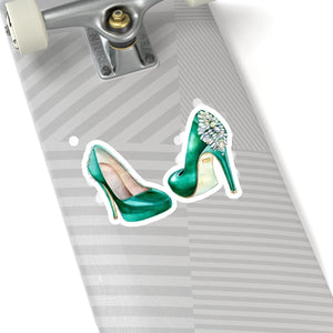 Emerald Shoes Vinyl Sticker Decal - Planner Press Designs