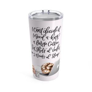 Tired Monday's Light Skin Blonde Hair Tumbler 20oz