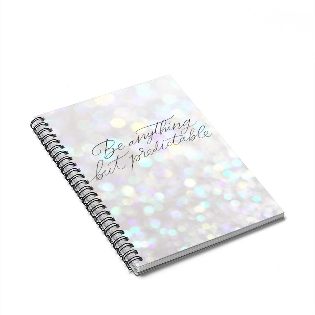 Predictable Spiral Notebook - Ruled Line