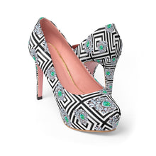 Load image into Gallery viewer, A Life She Built Women's Platform Heels - Planner Press Designs