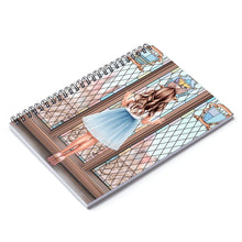 Load image into Gallery viewer, Meet Me At The Castle Light Skin Brown Hair Spiral Notebook - Ruled Line
