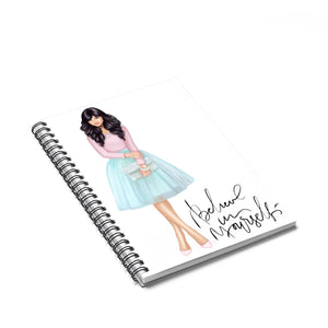 Believe In Yourself Light Skin Black Hair Spiral Notebook - Ruled Line