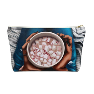 Peppermint Hot Coco Dark Skin Accessory Pouch with T-bottom - Pencil Case