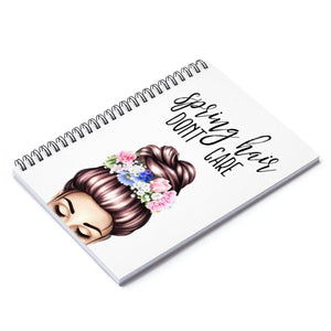 Spring Hair Light Skin Brown Hair Spiral Notebook - Ruled Line