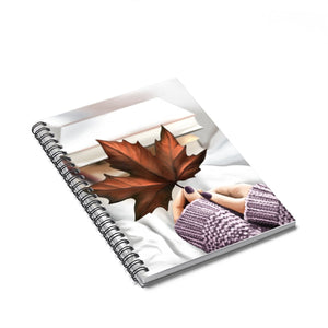 The Beauty Of Fall Light Skin Spiral Notebook - Ruled Line