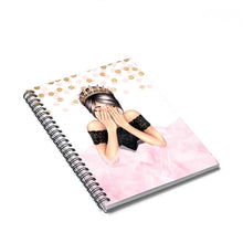 Load image into Gallery viewer, Birthday Girl Light Skin Black Hair Spiral Notebook - Ruled Line