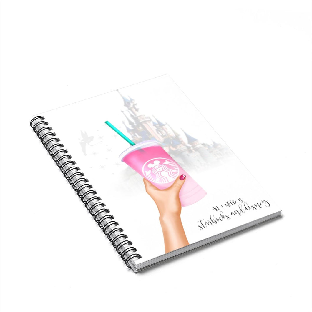 Starbucks and Disney Light Spiral Notebook - Ruled Line