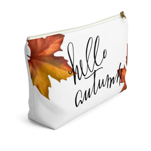 Hello Autumn Accessory Pouch with T-bottom - Pencil Case