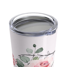"Load image into Gallery viewer, Floral Inital ""J"" Tumbler 20oz - Planner Press Designs"