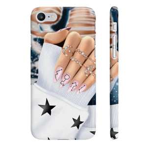 Galaxy Nails Light Skin iPhone Case - Protective Phone Cover - Planner Press Designs