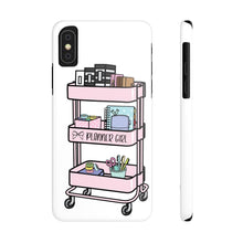 Load image into Gallery viewer, iPhone X Pink Planner Girl Cart Case Mate Slim Phone Cases