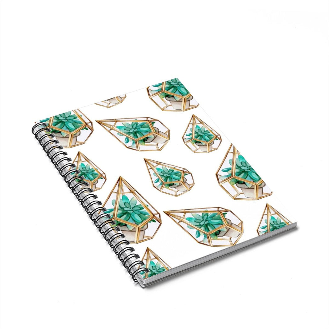 Succulents Spiral Notebook - Ruled Line